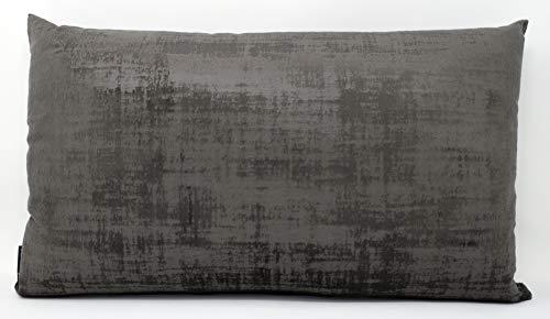 Federa per cuscino Velvet, morbida, diverse misure, 40 x 40 – 60 x 60 cm, Made in Germany/100% poliestere (grigio, 40 x 80 cm)