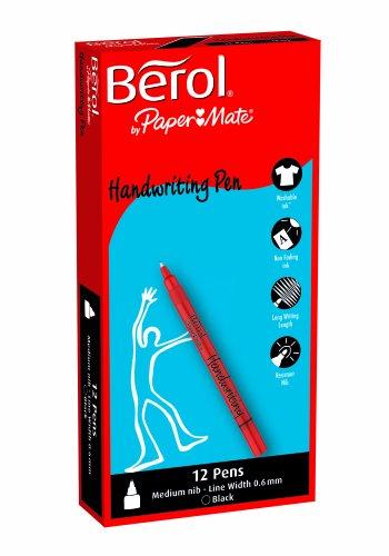 Berol Handwriting Pen - Black (Pack of 12)