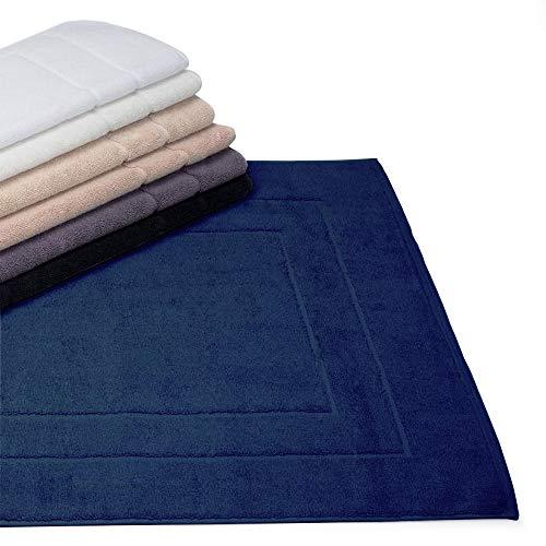 Linnea badmat, 60 x 100 cm, marineblauw, 1500 g/m2