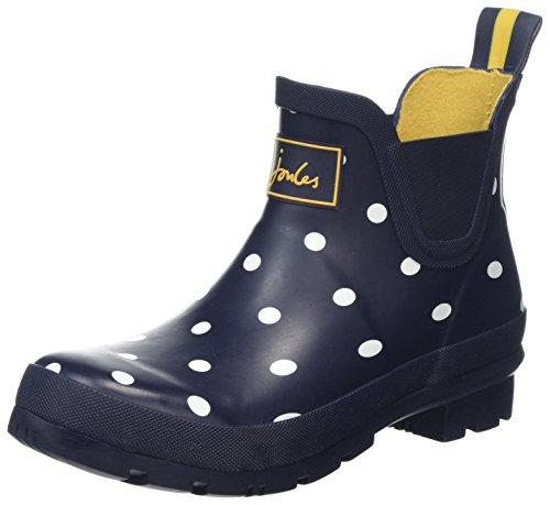 Joules Women's Wellibob Rain Boot, Navy Spot, 8
