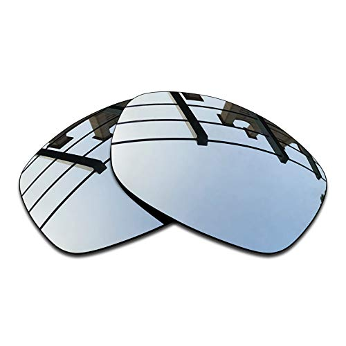 SEEABLE Premium Polarized Mirror Replacement Lenses for Oakley Sideways Sunglasses - Silver Mirror