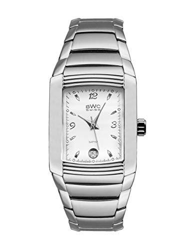 BWC-Swiss 207805001 - Reloj analógico de Cuarzo con Correa de Acero Inoxidable para Mujer