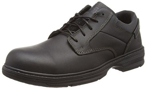 Cat Footwear Oversee S1, Zapatos de Seguridad Hombre, Negro, 40