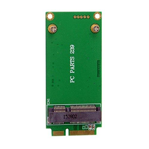 JSER Adaptador mSATA de 3x5cm a 3x7cm Mini PCI-e SATA SSD para Asus Eee PC 1000 S101 900 901 900A T91