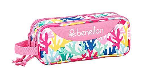 """Benetton """"Coralli"""" Oficial Estuche Escolar 210x60x80mm"""