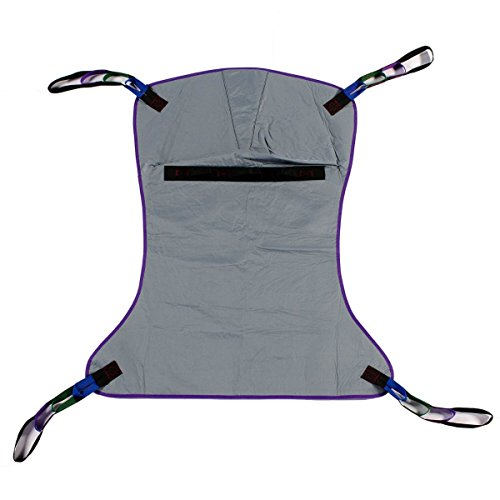 Patient Aid Full Body Solid Fabric Patient Lift Sling, Size Large,...