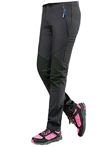 Lakaka Damen Berghose Funktionhose Outdoorhose Warm Atmungsaktiv Wander Wasserdicht Schnelltrocknen