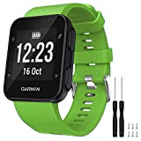 GVFM Band Compatible with Garmin Forerunner 35, Soft Silicone Replacement Watch Band Strap for Garmin Forerunner 35 Smart Watch, Fit 5.11-9.05 Inch (130-230 mm) Wrist (Green)