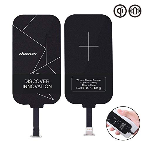 Nillkin Wireless Charger Qi Empfänger für IOS iPhone 7 Plus/ 6 Plus/ 6S Plus Kabelloses Ladegerät, Ultra dünn Universal Ladeempfänger für Qi Ladestation
