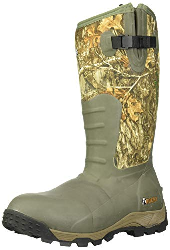 Rocky Men's Sport Pro Rubber 1200G Insulated Waterproof Outdoor Boot Knee High, Mossy Oak Break Up Country, 12 M US