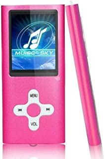 AKDSteel Useful Slim 1.8″ LCD MP4 MP3 Music Media Video Player FM-Radio Recorder (Without Memory) Pink Electronic Quality Accessories
