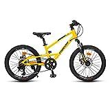 HEZHANG Bicicleta para Niños de 20 Pulgadas, Bicicleta de Aleación de Aluminio de 8 Veloz Montaña, para Niños Y Niñas,Amarillo
