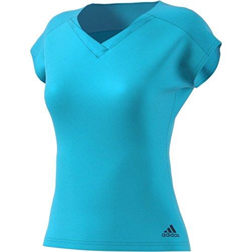adidas Camiseta para Mujer, Color Turquesa, Azul Oscuro, Talla XXS