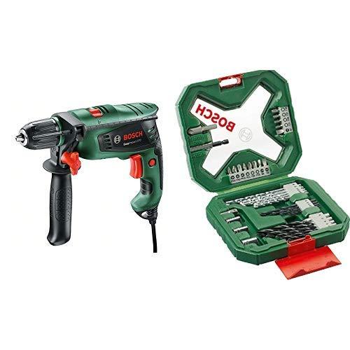 Bosch EasyImpact 570 - Taladro percutor + Bosch X-Line - Maletín de 34 unidades