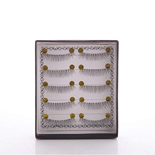 Delighted 5 Pairs/Set Handmade False Eyelashes Natural Nude Makeup Dense Three-dimensional CosmeticThick - short