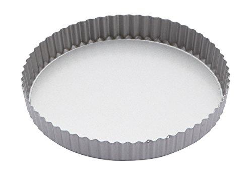KitchenCraft Antihaftbeschichtete Flan-Form / Quiche-Form mit Herausnehmbarem Boden, Rund, 25 cm