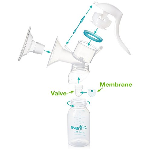 Evenflo Feeding Replacement Silicone Membranes and Valves for Advanced Breast Pumps (2 of Each)