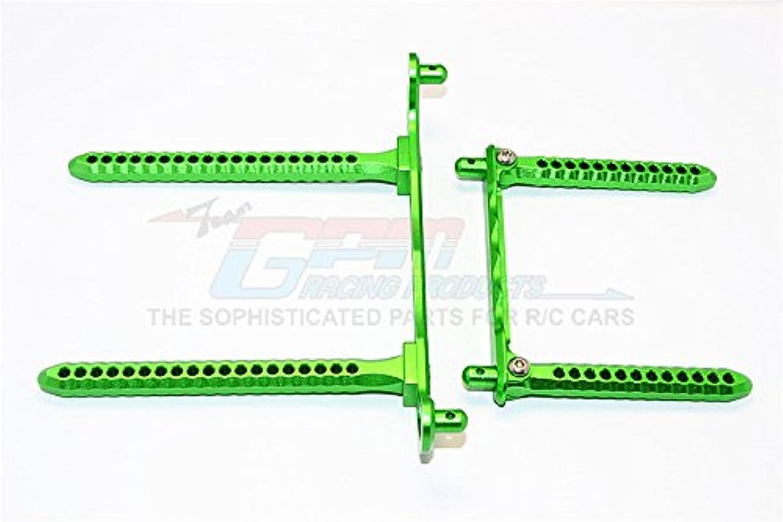 Traxxas Telluride 4X4 Upgrade Parts Aluminum Front & Rear Body Post Mount - 1 Set Green