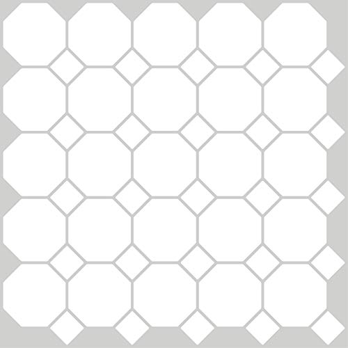 InHome NH2958 Octagon Peel & Stick Backsplash Tiles, White & Off-White