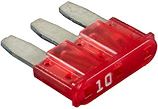 Clipsandfasteners Inc 2 Micro-Fuses 10 Amp Red Color Compatible with Ford