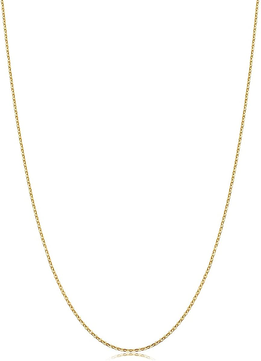 Chow Sang Sang 18K Rose Gold Diamond Cut Anchor Chain Necklace (45cm) for Women 04800N