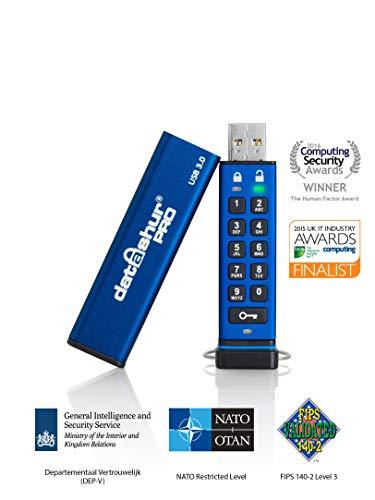iStorage datAshur Pro 256-bit 128GB USB 3.0 Secure Encrypted Flash Drive IS-FL-DA3-256-128