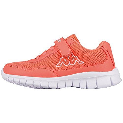 Kappa Mädchen Follow Kids Sneaker, Rot (2910 Coral/White), 30 EU