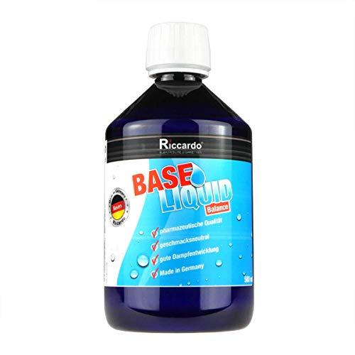 Riccardo Basisliquid Balance, 50% PG / 50% VG, 99,5% Ph. Eur, 500 ml, Basis Liquid 0,0 mg Nikotin