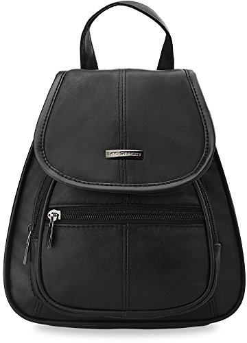 Damen - Rucksack Damentasche Ledertasche schwarz Markentasche Bag Street