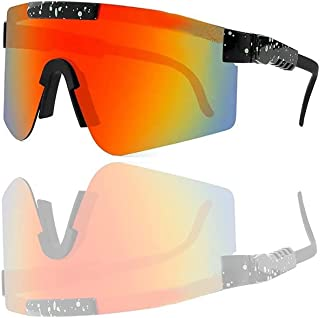 Sports Polarized Sunglasses,Outdoor Sports Windproof UV400 Eyewear,Ideal for Cycling, Running, Fishing and Outdoor Activities