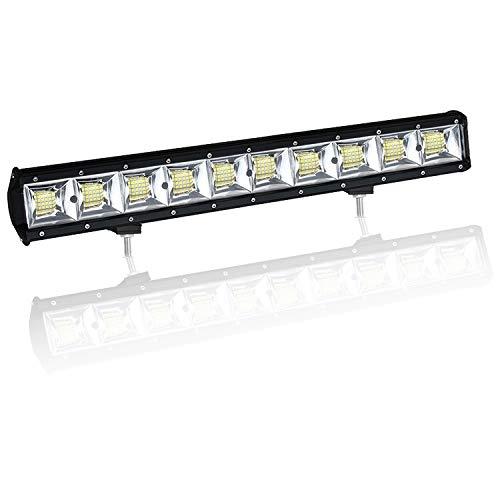 Barra de luz de Trabajo LED de 22 Pulgadas 480W con Doble Fila, luz de Trabajo 10D, Luces de Carretera para 4WD 4x4 camión Coche Pickup Barco antiniebla lámpara Flood Beam