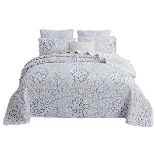 %41 OFF! JR%L Quilted Ruffled Bedding Coverlets, Classic Stilvoll Easy Fit Wrinkle Fade Resistant Wr...