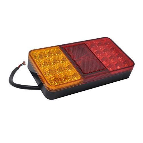 prasku Luz Indicadora de Señal de Lámpara Trasera Trasera Universal de 24 LED para Remolque de Camión de Coche