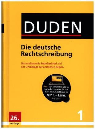DUDEN - Die deutsche Rechtschreibung für Schule, Beruf und zu Hause - Der neue DUDEN - 26.Auflage - Buch + Software zum Sonderpreis zum Herunterladen