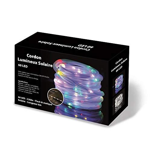 JJA Cordons Lumineux Solaire Multicolore 10 mètres
