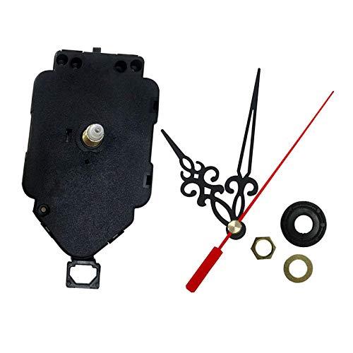 perfk Mecanismo de Péndulo de Movimiento de Relojes de Pared de Cuarzo DIY con Manos, Piezas de Reparación, Columpio Colgante, Kit de Repuesto para Oficina - tal como se describe, Rosca 8mm eje 17mm