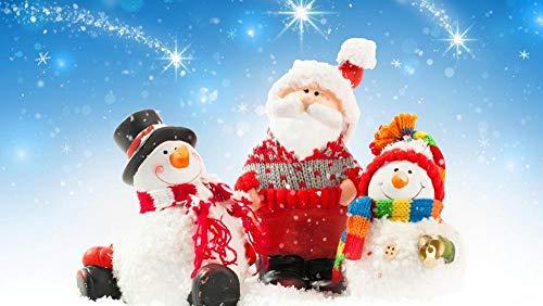 SDBZBH Carta da parati 3D Adesivo murale Natale Cartone animato Simpatico Babbo Natale Pupazzo di neve (L) 430x (H) 300 cm Carta da parati anime Decorazione del festival Soggiorno Sfondo Negozio At