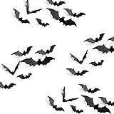 Materiale: PVC impermeabile nero, è materiale durevole, può essere riutilizzabile Imballo: ogni confezione include 24 pipistrelli materiale pvc, 16cm x 4cm / ogni x 4 grandi pipistrelli, 12cm x 3cm / ogni x 4 pipistrelli medi, 9cm x 2cm / ogni x 12 p...