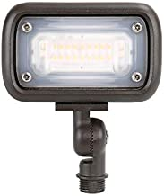 GKOLED 12W Outdoor Waterproof LED Spike Garden Security Floodlight, 900Lumens, 80CRI, 2700K, 12V-24V AC/DC, 1/2 Knuckle Mount, UV Resistant