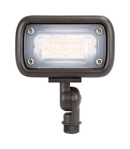 """GKOLED 7W Outdoor LED Low Voltage Landscape Lighting Flood Light, 2700K, 550Lumen, 12-24VAC, 1/2"""" Adjustable Knuckle Mount"""