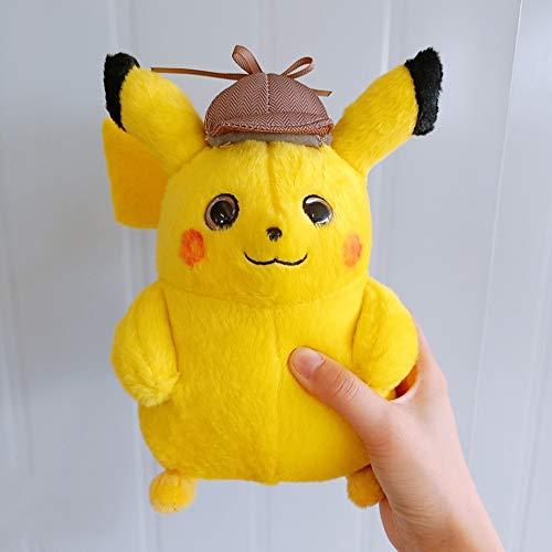 not Detective Pikachu Plush Toy, Lovely Anime Plush Toy, Regalo De Cumpleaños para Niños Toy, Kids Cartoon Pikachu Plush Dolls 23Cm