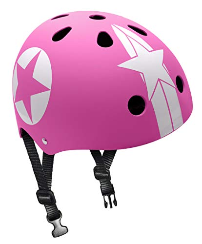 Skating Helmet Pink Star with Headring