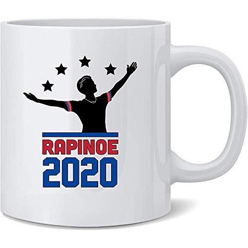 Egoa Tazza in Ceramica Rapinoe 2020 per President Women Soccer USA Elezione Divertente Tazza di caffè novità Tazza di tè Divertente Regalo di novità in Ceramica 330Ml