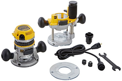 Variable Speed DEWALT Fixed/Plunge Router Base Kit, 12-Amp, 2-1/4-HP (DW618PK)