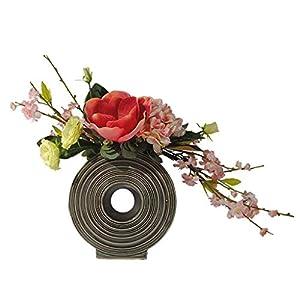 Silk Flower Arrangements Amon Artificial Flowers with Vase Babies Breath Flowers Fake Plants Bouquets for Wedding Home DIY Decoration