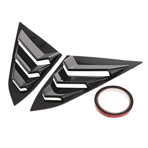 B Blesiya Capilla de Cubierta de Respiradero de Capo de Turbo Bonnet de Toma de Entrada Decorativa Auto Coche de Abs - Estilo de Fibra de Carbono