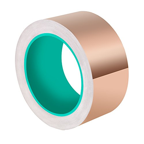 ASIV 50 mm X 20 m cinta de cobre hoja, cinta adhesiva conductora de doble cara...