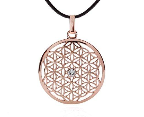 silvity Damen Blume des Lebens Halskette mit Crystals from Swarovski® Kristalle 959301-20 Farbe:Rosegold