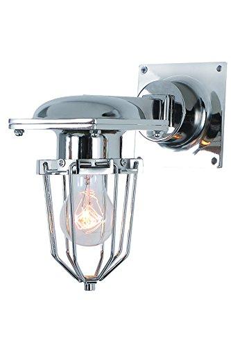 Elegant Lighting 1451W9C Kingston Collection 1-Light Wall Lamp, Chrome Finish, 9