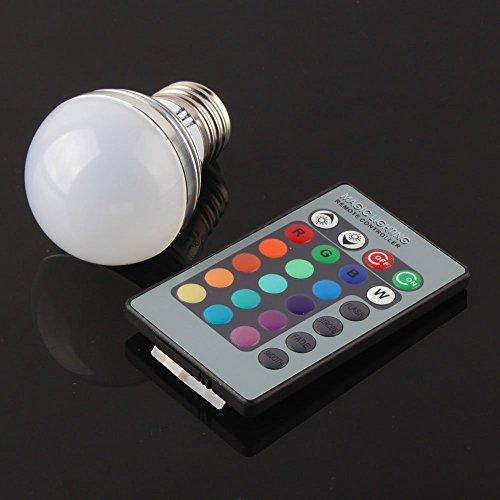 E27 3W RGB LED Magic Light Bulb Lamp + 24Key IR Remote Control Colors Change